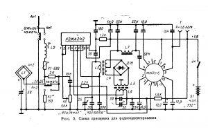 Принципиальная схема приемника для радиоориентирования