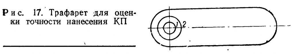 Трафарет для оценки точности нанесения КП