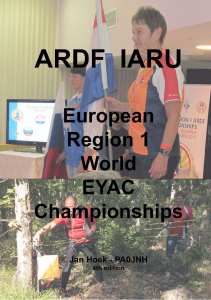 ARDF IARU European Region 1 World EYAC Championships in general and the Netherlands participation